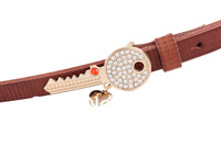 Promotion 2012 Fashion Cow leather Brands Belts for women with Free shipping