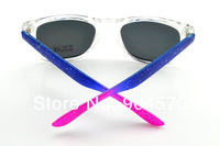 1pc free shipping  Europe and the United States wind vintage color the inkjet blue chip sunglasses wayfarar glasses