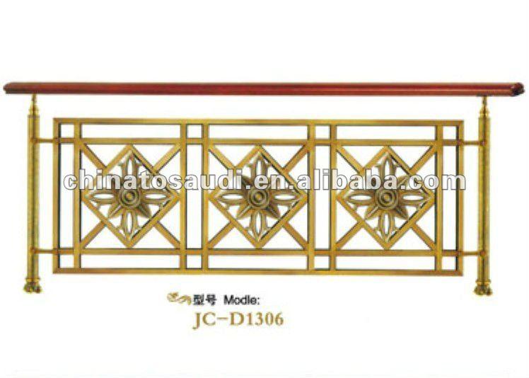 Luxe cuivre bois balustrade pour int rieur escaliers id de for Balustrade bois interieur