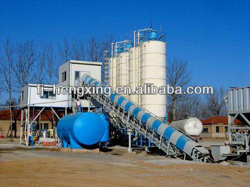 Mobile ready mixed concrete plant