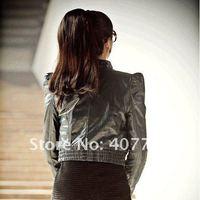 Натуральная кожа retail, Sun Slim black female models female short leather F110