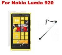 Чехол для для мобильных телефонов Genuine Leather Case Flip Phone Case + Screen Protector + Touch Pen For Nokia Lumia 920