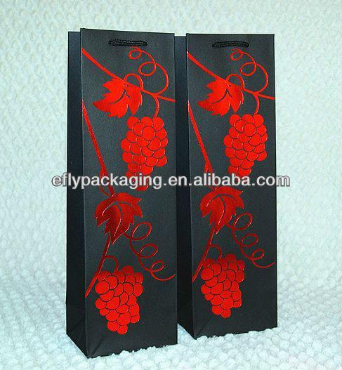 Art Paper 210g Custom Wine Carrier Gift Bag