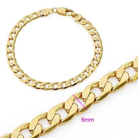 Fashion Jewelry 18k Yellow Gold Filled Ethnic Bracelet Bangle