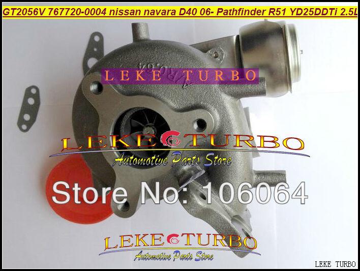 GT2056V 767720-0004 14411-EB70A 14411-EB70B Turbo For NISSAN Navara D40 2006- Pathfinder R51 YD25 YD25DDTi 2.5L turbocharger (4)