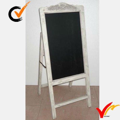 Shabby Chic Distressed Big Wooden Chalkboard/blackboard Sign - Buy Wooden Chalkboard,Folder ...