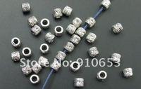 Разделители для браслетов 70 pcs Tibet Silver Beaded Drum Spacer Beads 0451