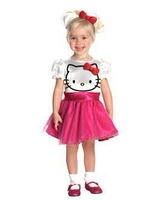 Hello kitty Baby Dress kitty cat kids dresses Toddler Girl Single Tulle Lace princess dress