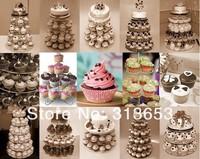 5 уровень акриловые кекс партия свадебный торт стоять / торт держатель/торт украшения/партии поставки