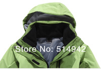 Женская куртка для лыжного спорта Dropshipping Brand fashion double layer windproof camping jacket ski suit outdoor hiking skiing women jacket winter