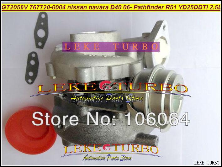 GT2056V 767720-0004 14411-EB70A 14411-EB70B Turbo For NISSAN Navara D40 2006- Pathfinder R51 YD25 YD25DDTi 2.5L turbocharger (5)