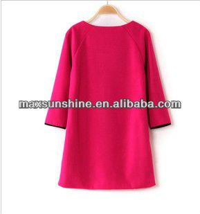 Hot! Latest Ladys Leisure Dress, Lady's Red Dress