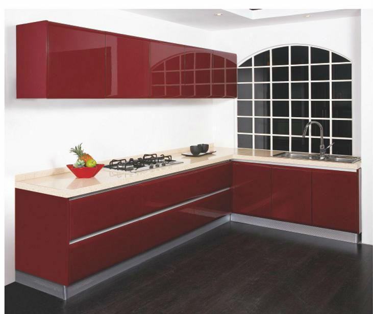 Indian modular kitchens designs price buy modular for Acrylic kitchen cabinets prices