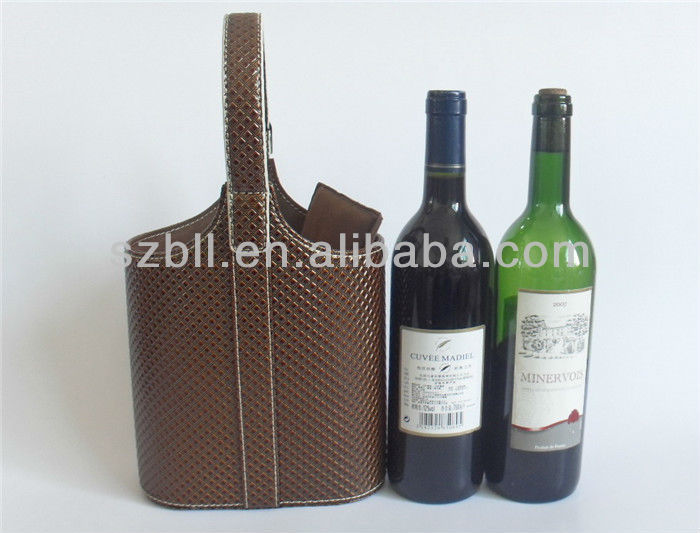 Two bottle wine bag,leather wine bag,wine bag holder