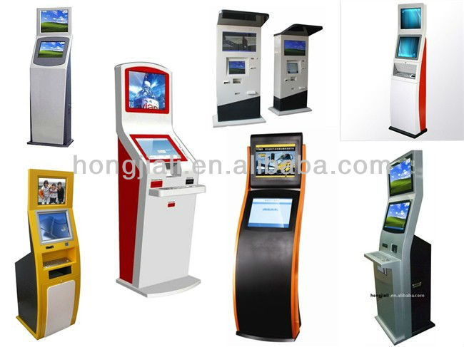 New Design Slim Public Mobile Phone Charging Station kiosk with card reader