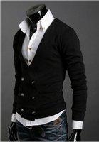 двойной грудью свитера мужской моды установлены случайный дизайн шерсть мужские свитера #ms099