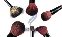 free shipping Pro Deluxe Mineral Make Up Brush set & Bag Red &Black 30pcs