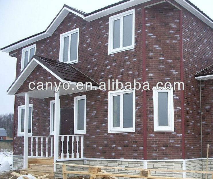 Imitation stone/brick siding panels for house decoration