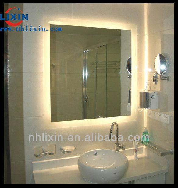 Frameless Backlit Bathroom Mirror View Frameless Backlit