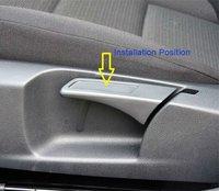 Молдинг для авто CSPtek 2PCS Seat Lift Wrench Seat Insert Trim for VW GOLF 5 6 MK5 MK6 GTI