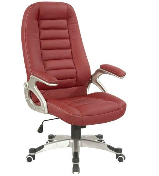 Високоякісний червоний поворотний ергономічний офісний кабінет з масажем назад (Y-2772)