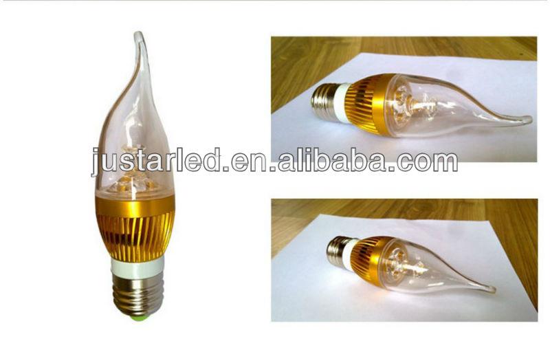 e14 led flicker flame candle light bulbs 3watt high power. Black Bedroom Furniture Sets. Home Design Ideas