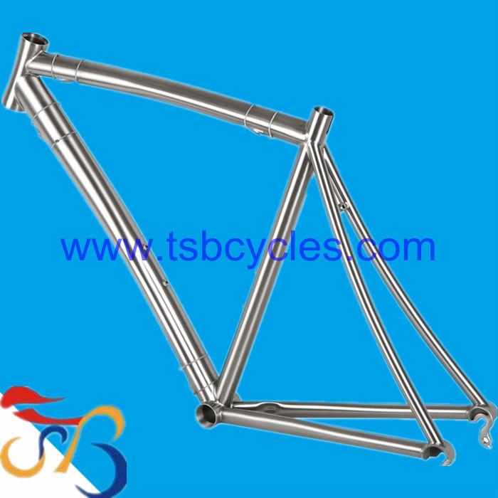 TSB-WQR1001 titanium road bike frame