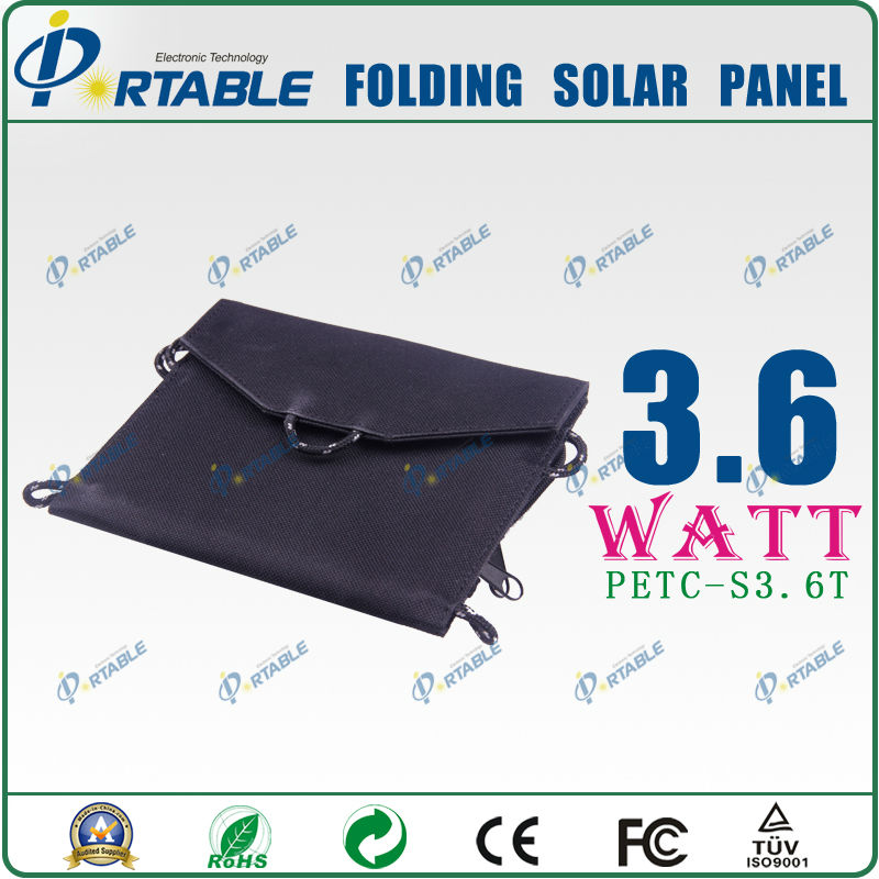 3.6w 5V 2014 Newest design and fashion Solar charger panel bag