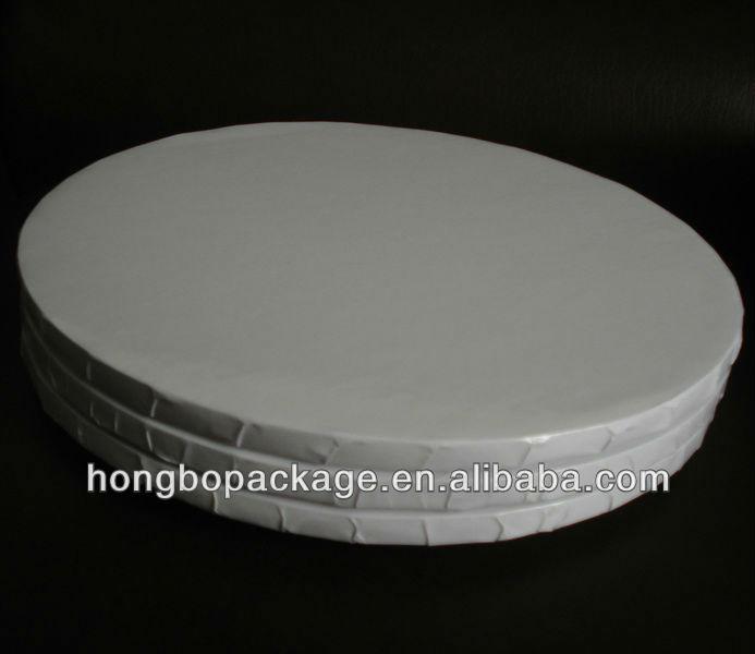 Round White Paper Cake Circle