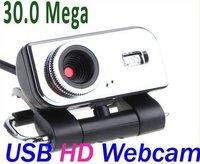 Поворот 360 градусов usb 2.0 30,0 м металла pc камера веб-камера hd камеры веб-камера + микрофон + компакт-диск для компьютера pc ноутбук bux049
