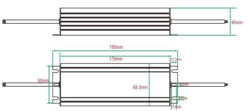 80W led power supply waterproof IP67 ,700ma 1400ma 2100ma 2800ma