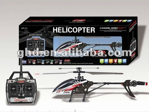 """OEM UJ303 / FX059 Single Rotor Fixed Pitch Medium 4 CH 17"""" RC Helicopter w/ Built in Gyroscope 2.4 Ghz"""