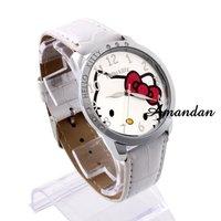 Наручные часы watch104/, women watche, Fashion Hello kitty Dial quartz Wristwatch With PU Strap, ladies Casual wrist watch, 3 color