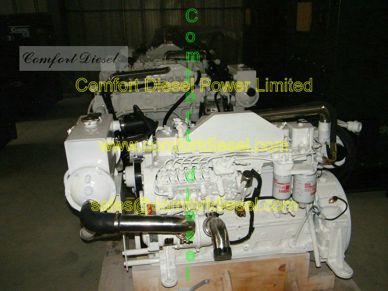 5.9L marine diesel! Cummins 6BT5.9-M marine inboard engine, 120HP,150HP available for small fishing boat