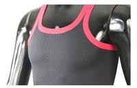 Мужская майка great flexibility vest, solid color tank tops sport slim edging summer vest 4 pcs/lot 4 color