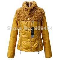 Женская куртка Sunlun 2012 New Designed Ladies' Grace Fur Collar Wadded Jacket/Women's Short Style Cotton-Padded Clothes For Wint