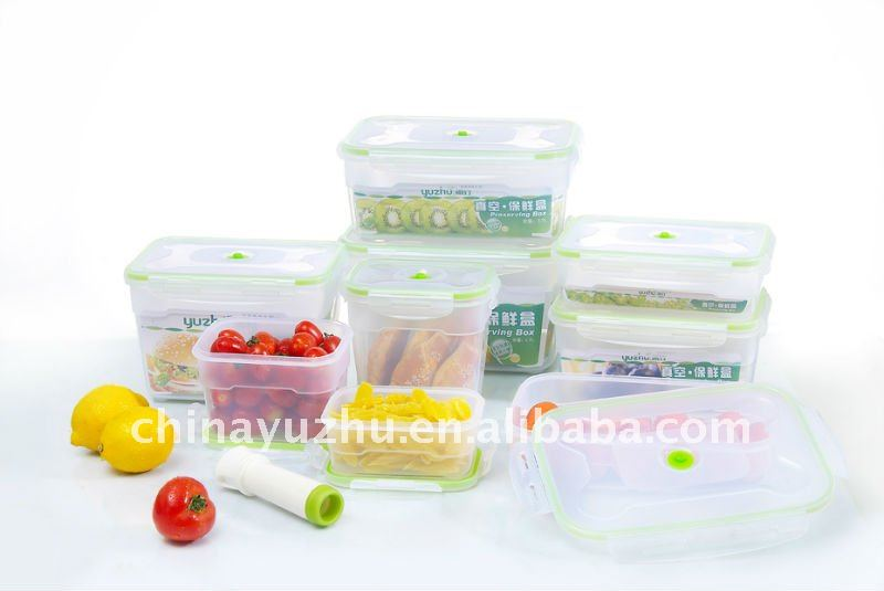 Airtight Plastic food container set with pump