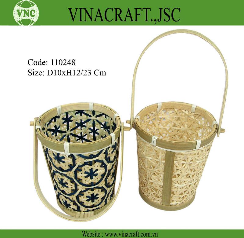 Bamboo basket, bamboo pannier, Bamboo scuttle, Bamboo dosier