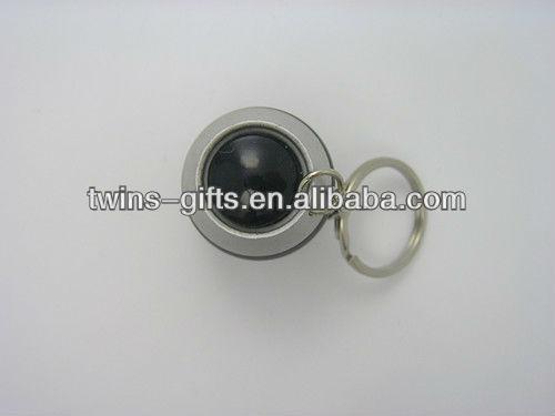 portable 6led aluminum egg led flashlight key chain