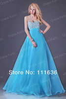 Free shipping GK Beaded Fashion Ladies Prom Party Gown Evening Long Formal Dresses 2014 New CL3107