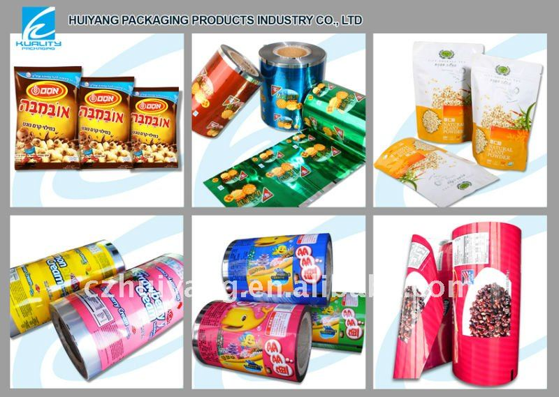 Printed sealed food bag packaging plastic for crispy