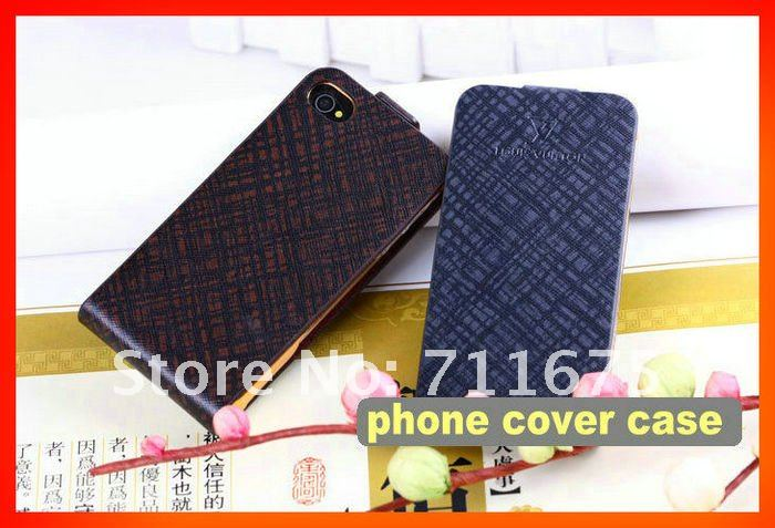 cellphone set phone 4 fashion leather clamshell holster,Free shipping 3pcs/lot,A0065