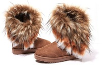 Женские ботинки 2013 New Fashion women's three bailey button real leather snow boots! yyyyy-31