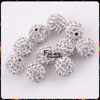 F860201 DIY hot sell 10mm Rhinestone Pave Disco ball Shamballa Crystal beads CPAM free 50 piece