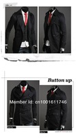 Hot Sale New Men's Winter Dust Coat Mens large lapel double-breasted long paragraph coat Jackets M~XXL x-322