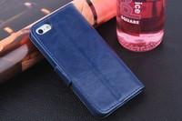 Чехол для для мобильных телефонов Genuine Leather Wallet Stand Design Case for iPhone 5 5S 5G Phone Bag Cover Luxury Book with Card Holder, Screen Protector