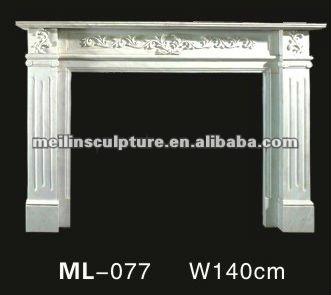 marmol blanco decorativo de madera chimenea