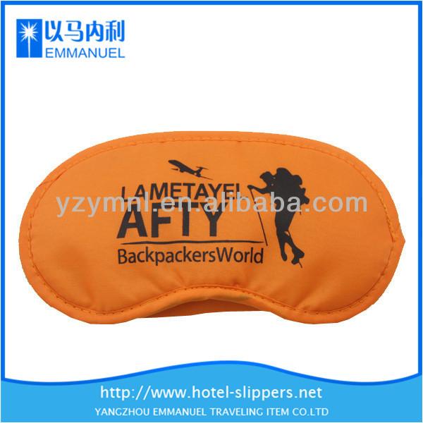 orange oxford cloth and super soft cloth cat eye mask