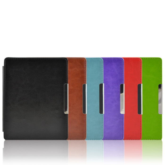 Auto wake sleep funtion PU leather case for kobo aura 6 inch eReader Cases
