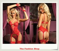 FREE SHIPPING 2013 New Hot sale sexy underwear,sexy costume,sexy lingerie,sexy garters,NA1091,Size M/XXXL,Red